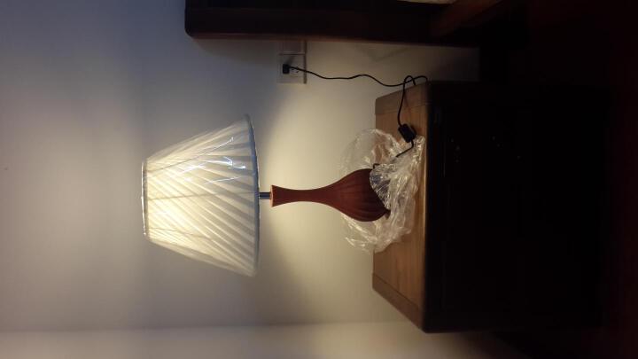 比月 实木中式台灯卧室灯 现代简约书房书桌原木床头学生礼品礼物创意定制节日装饰台灯1250 晒单图