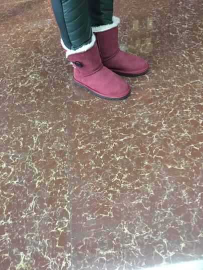 鸭鸭直销|秋冬羽绒裤女士修身型黑色长裤加厚保暖裤H-2408 黑色C码 170 晒单图