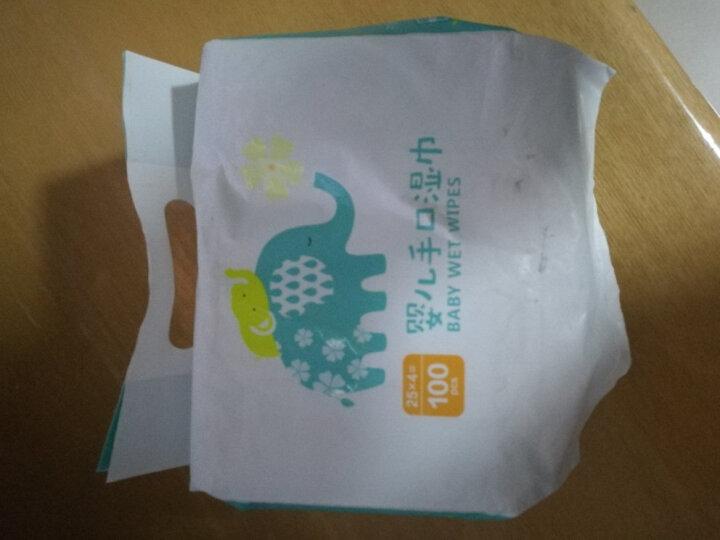 京东自有品牌 初然之爱婴儿手口湿巾25抽*4包 湿纸巾全植物木浆无纺布 晒单图