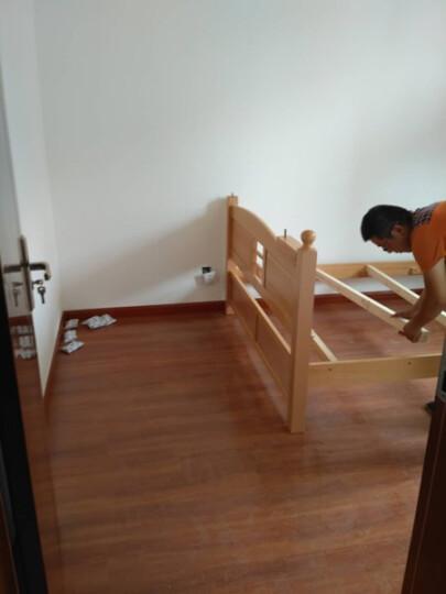 赛罗纳 实木儿童床榉木高低床子母床双层床上下床书柜组合儿童套房家具 直梯双层床+床底抽屉 1500*2000 晒单图