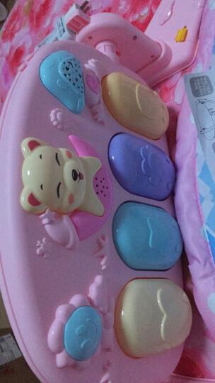 新生婴儿玩具0-1岁健身架器脚踏钢琴 遥控投影音乐游戏毯 宝宝脚踩玩具男孩女孩节日礼物 飞机充电版(公主粉) 晒单图