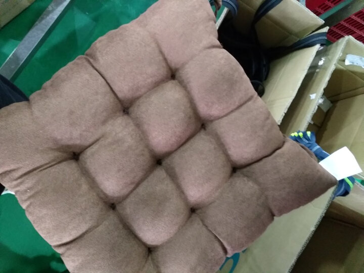 蔻姿cozzylife 家纺 时尚加厚麂皮绒椅子坐垫咖啡色42*42cm 晒单图