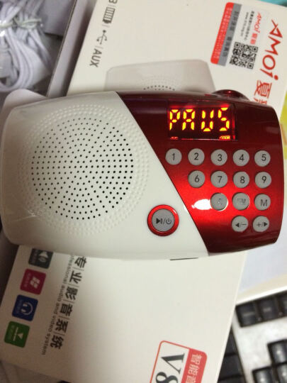 夏新(Amoi)V8 迷你音响便携老人收音机 插卡音箱低音炮户外儿童早教mp3音乐播放器 可乐红 配置8G内存+3800首歌+点歌本 晒单图