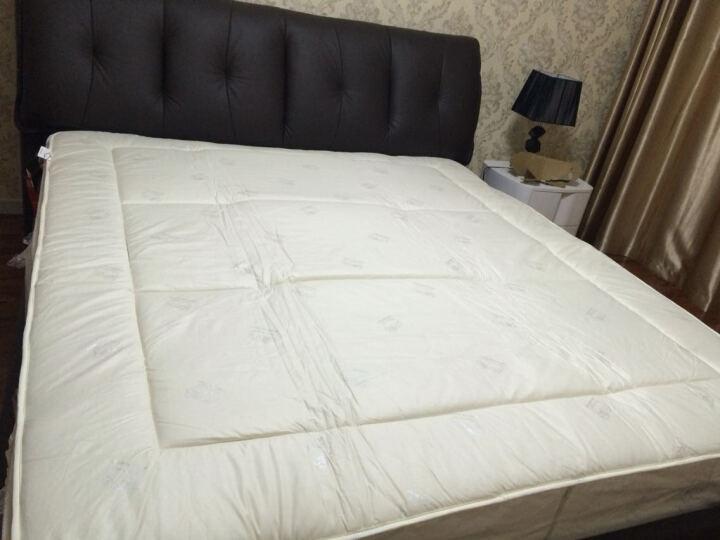 恒源祥家纺 床褥子 复合新西兰羊毛榻榻米床垫保护罩床笠可折叠 床上用品 主图色 180*200cm(床笠款) 晒单图