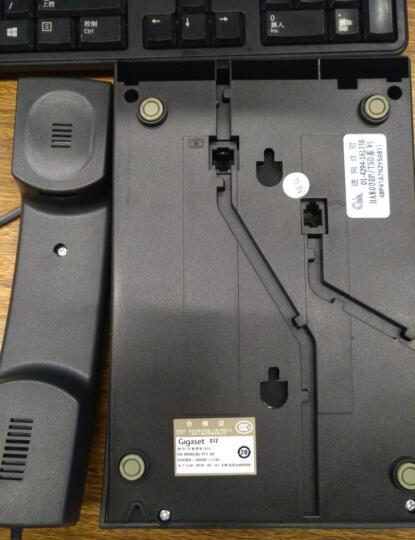 集怡嘉(Gigaset)原西门子品牌 电话机座机 固定电话 办公家用 快捷拨号 通话静音 812黑色 晒单图
