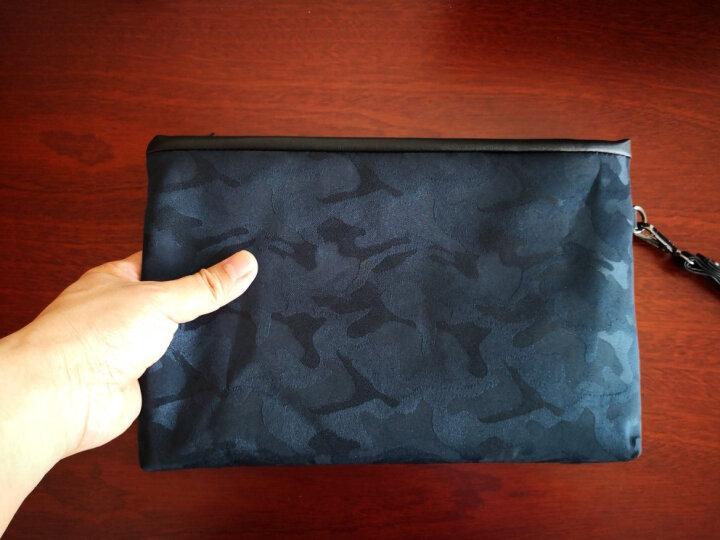 帆布男手包牛津纺休闲手拿包迷彩布料夹包尼龙大容量手袋YL 迷彩蓝 晒单图