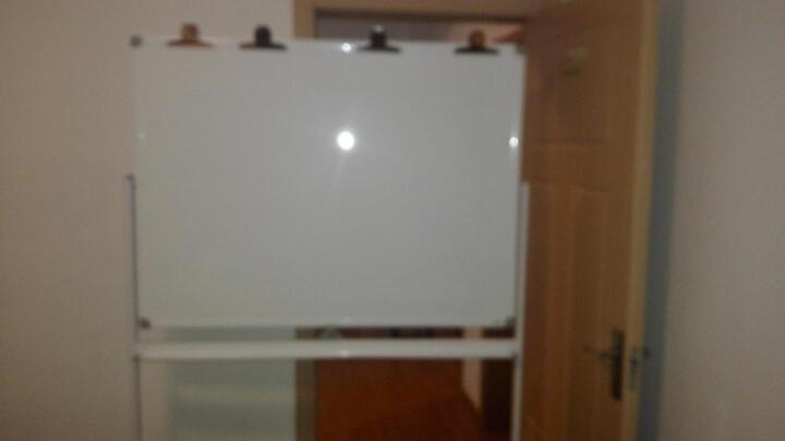 比比牛 白板架90*120cm 办公支架白板双面移动一键翻转白色 金刚BBNO90120W 晒单图