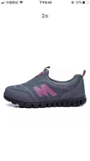 卡地玛丽老人鞋防滑软底中老年健步鞋套脚防滑爸爸妈妈鞋运动休闲男女鞋 M28 深灰/女款 37 晒单图