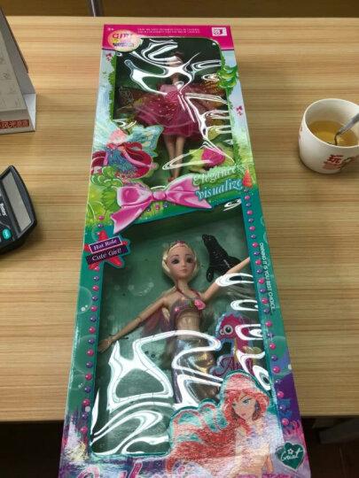 芭芘娃娃玩具公主套装大礼盒巴比洋娃娃屋女孩生日礼物 花仙子和美人鱼套装036 晒单图
