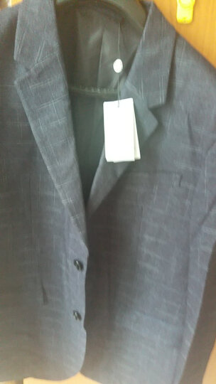 金利来男士合体英伦格纹商务休闲西装西服外套【W】 88-蓝灰 185/XXL 晒单图