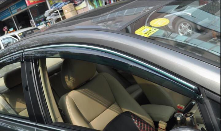 骊锐 2016新款PC不锈钢注塑晴雨挡车窗雨眉改装汽车专用遮雨挡加厚半透明茶色 风神A60 10-15款飞碟5门 13-15款X5 晒单图