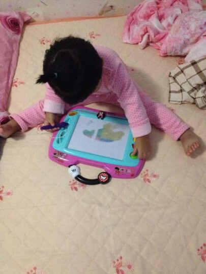 DISNEY迪士尼儿童画板玩具磁性画板彩色涂鸦板套装益智玩具 双拼3=米妮画板+粉色草莓KT书包 晒单图