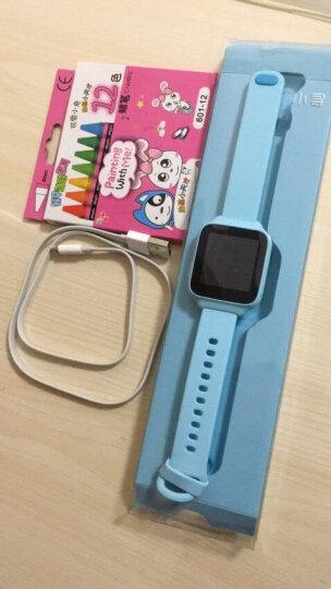 小寻 儿童电话手表彩屏版 360度生活防水GPS定位 学生儿童定位手机 智能手表手环 男女孩 天蓝色 晒单图