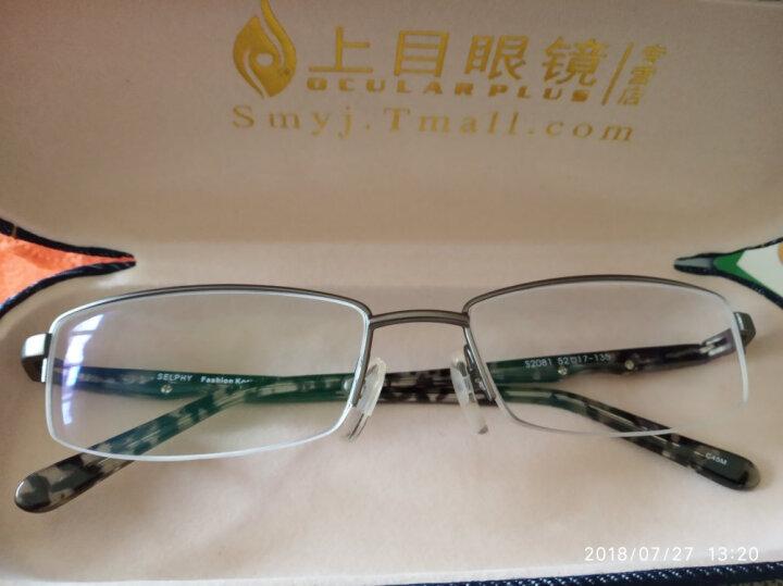 炫飞眼镜架 近视眼镜框架男 配眼镜半框眼睛框配近视度数学生男成品 配非球面镜片2081 框架黑色(送1.56非球面镜片) 晒单图