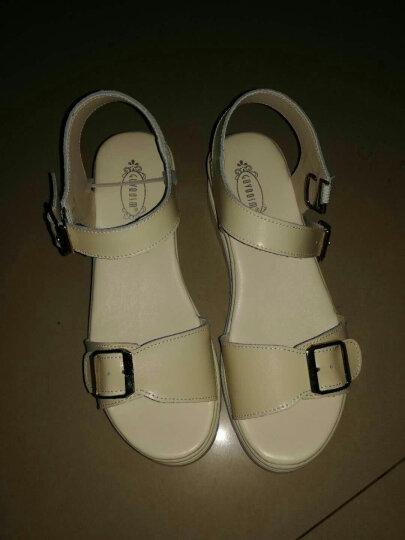 古骋大码凉鞋女夏41-43学生韩版平底40 42坡跟女士凉鞋小码32 33 34 1357白色 35 晒单图