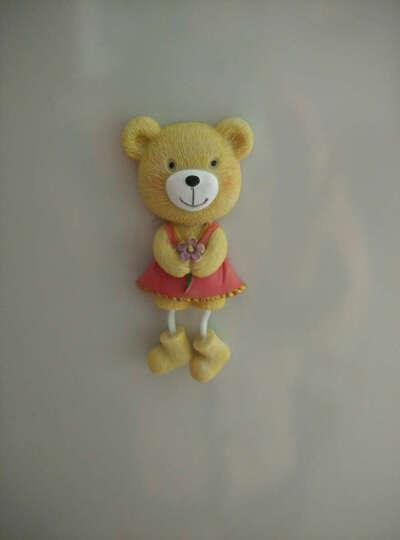 两件包邮-颐然(YIRA) 创意包邮韩国卡通树脂儿童可爱小熊磁铁立体贴磁铁吊脚娃娃冰箱贴 花朵熊(红色) 高9CM*宽4.5CM 晒单图