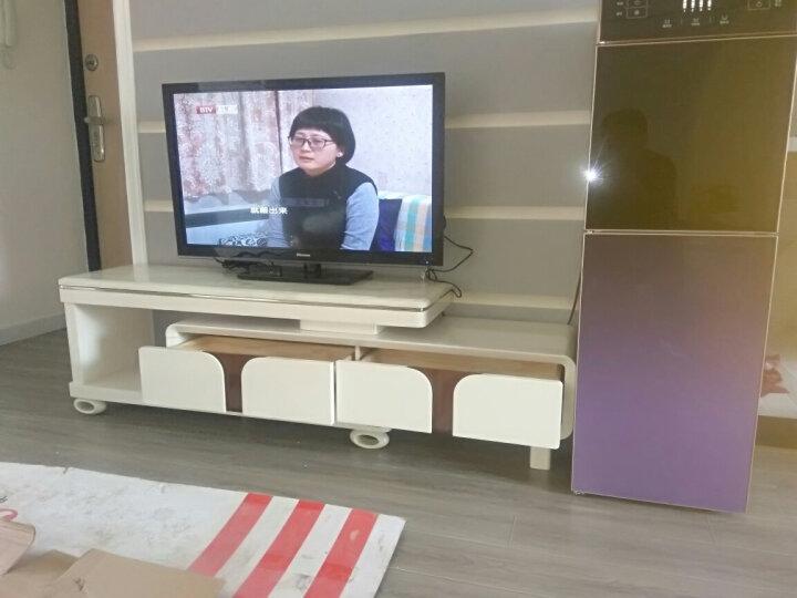 美好未来 电视柜 简约 钢化玻璃电视柜茶几组合套装 伸缩电视机柜 小户型客厅家具 烤漆地柜 米白大理石 电视柜+1.2米茶几 晒单图