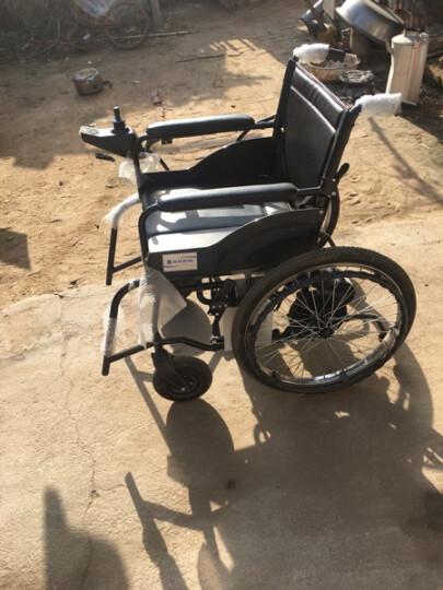 互邦 电动轮椅护理型带坐便座便铝合大轮金老年残疾人代步可折叠 晒单图