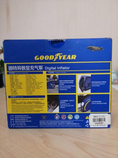 固特异(Goodyear) 车载充气泵 数显 LED照明 汽车轮胎 足球 电动车 摩托车用打气泵 GY-2503汽车用品 晒单图