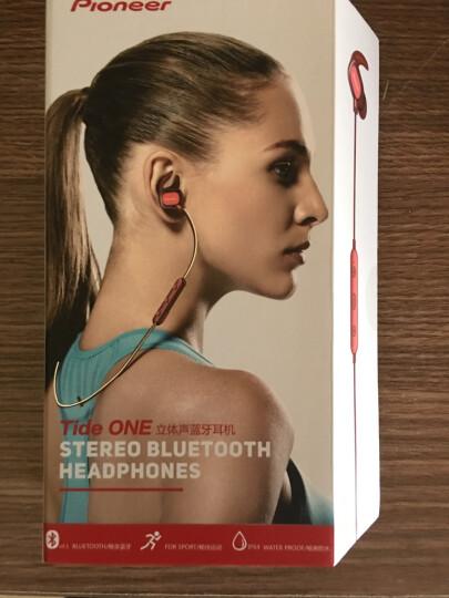 先锋(Pioneer)E521BT 入耳式无线蓝牙运动耳机 反光线 红 晒单图
