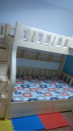 大梵林 儿童床 松木高低床子母床 实木双层床上下铺床 母子床带梯柜 组合床木架子床 直梯双层床+书架 1200*2000 晒单图