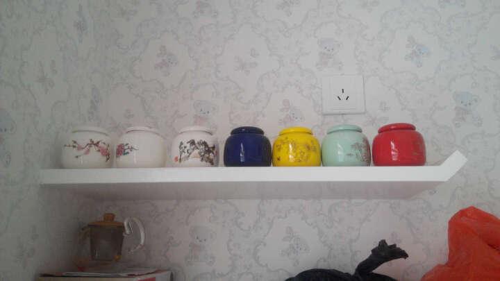 万瓷朝宗 陶瓷茶叶罐迷你密封瓷罐 香粉罐 香料罐 小药罐花茶罐小号储物罐迷你高白瓷青花瓷罐 小平头青山绿水 晒单图