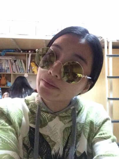 音米(INMIX) 太阳镜男女款圆脸偏光镜圆框太子镜复古潮人方脸明星同款墨镜 1203 金框黄绿片+升级版 晒单图