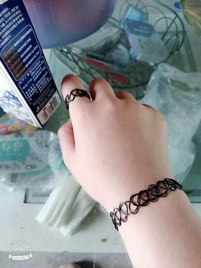原宿复古绒带颈链手链朋克萝莉蕾丝花朵颈带项圈女短款锁骨项链手环套装 白珍珠小花项链+手链 晒单图