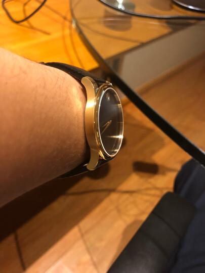 摩凡陀(Movado)官方旗舰店 瑞士手表 博物馆系列 MUSEUM CLASSIC 男士石英金色手表 皮带腕表0607014 晒单图