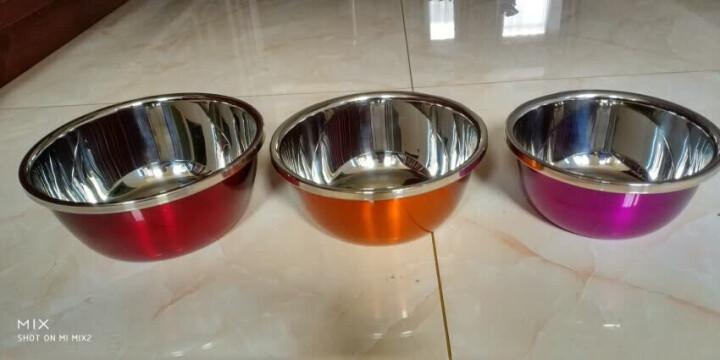 美厨(maxcook)不锈钢盆调料盆 洗菜盆和面盆味斗三件套 加大加厚炫彩系列MCWA-172 晒单图