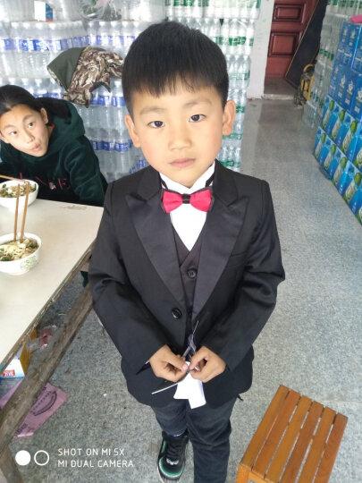 EYAS儿童套装花童礼服新款男童小西装黑色钢琴演出服修身韩版西服儿童节表演服元旦新年童装 黑色六件套 130 晒单图