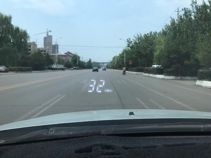海愿 汽车hud抬头显示器车载通用OBD行车电脑平视速度投影仪高清超速报警车速度数字显示仪 优雅白【抬头显示器】 晒单图