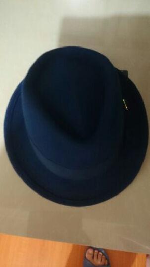诗丹凯萨帽子男礼帽秋冬天羊毛呢帽子男女英伦爵士帽 黑色55cm-57cm 晒单图