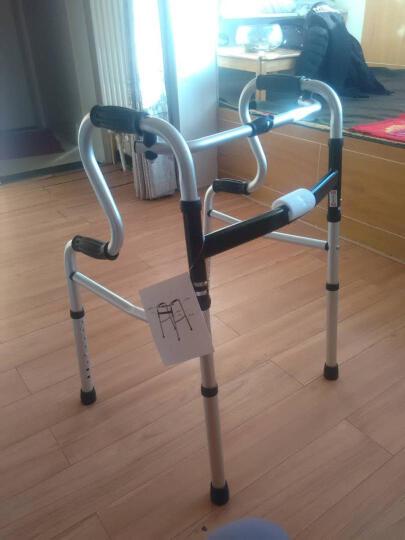 卫宜康 助行器 四脚老人轻便可折叠偏瘫中风脑梗塞康复训练器材坐便器马桶扶手起身可带轮带座学步车拐杖 标配 晒单图