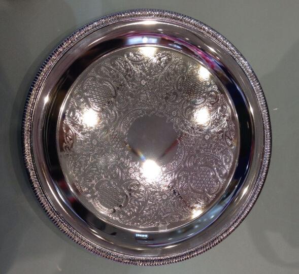 弗莱文茨包银托盘银器装饰品KTV会所酒店用品 婚礼酒店杯盘 水果盘 晒单图