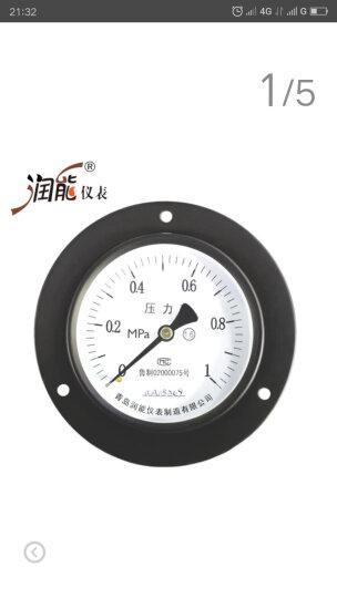润能轴向压力表气压表水压表Y100ZT普通表盘100储气罐使用测量工具 0-60MPa 晒单图