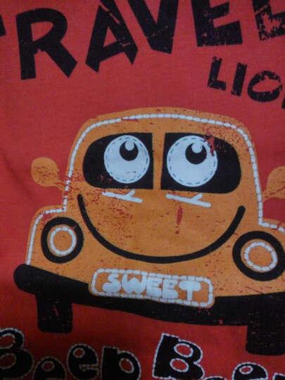 里昂迪(LIONDI) 外贸童装男孩子儿童T恤 纯棉长袖薄款宝宝上衣打底衫 男童长袖T恤 白色 130 晒单图