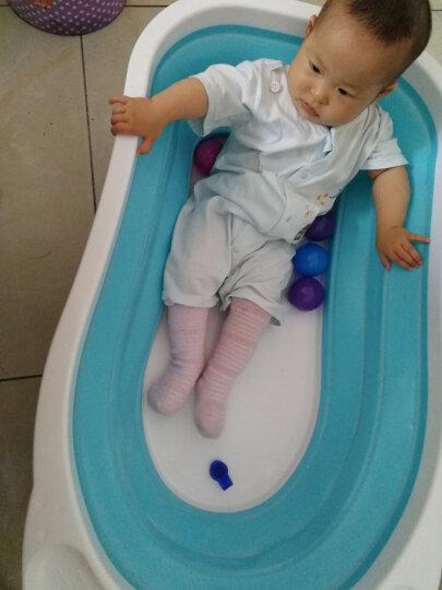【京东送货】婴儿浴盆可折叠 新生儿宝宝洗澡盆大号加厚可坐儿童用品浴桶 粉色(大礼包+浴网) 晒单图