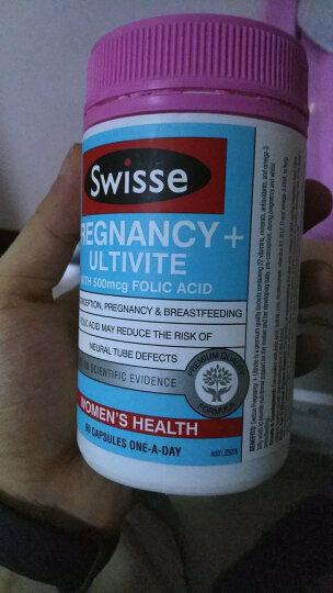 Swisse斯维诗 孕妇叶酸+复合维生素胶囊 90粒/瓶 含叶酸 补孕期22种营养 澳洲进口 晒单图