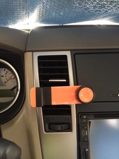 研美车配 车载出风口简易手机架 可伸缩手机导航支架(橙色) 晒单图