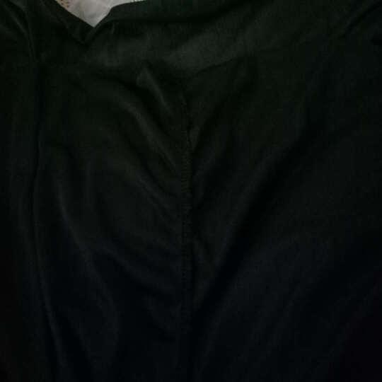靓淑连衣裙印花2020夏季新款大码女装时尚淑女OL职业百褶短袖雪纺碎花连衣裙 枣红格 M 晒单图