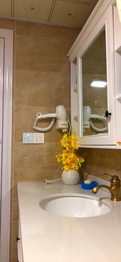 永日(yongri)永日酒店宾馆大功率挂壁式共享电吹风机家用浴室壁挂式吹风筒 白色 晒单图