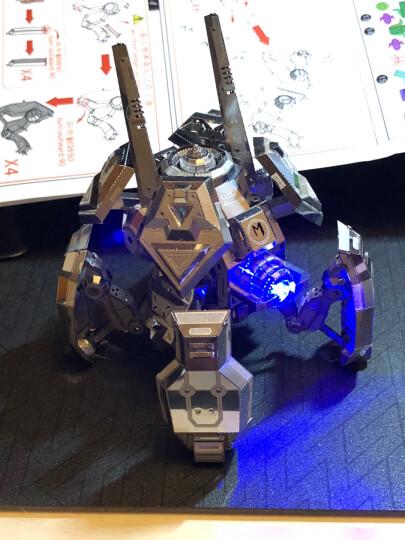 MU艺模 3D立体拼图金属模型星际坦克手工DIY军事模型拼装玩具生日礼物送男朋友礼品送朋友 蜘蛛鬼雷(银色) 晒单图