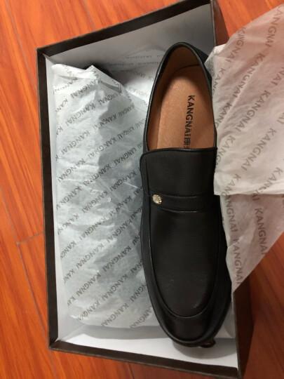 康奈男鞋 男士皮鞋商务正装真皮舒适圆头套脚男鞋黑色正装皮鞋1167846 深棕色 39 晒单图