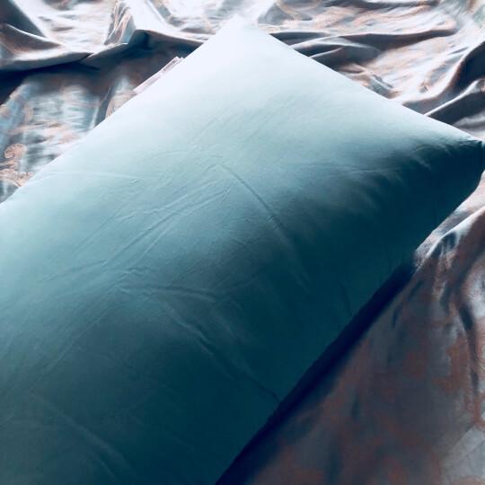 【京東送貨】Globon格兰贝恩酒店枕头羽绒鹅毛枕芯100支五星级枕头芯单人颈椎护颈枕成人 松石绿设计款高枕单个 晒单图