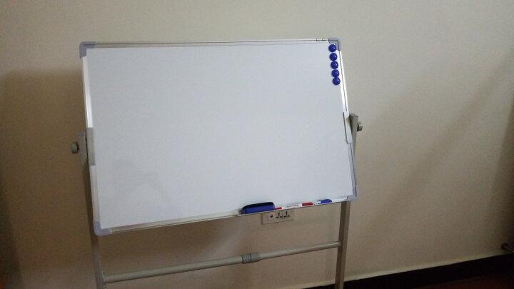齐富(QIFU) 90*120双面磁性移动白板绿板支架式白板办公会议教学写字书写黑板 60*90cm双面白板带支架 晒单图