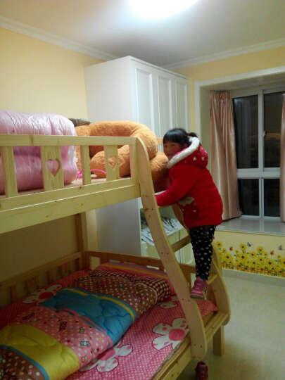 童梦 梯柜高低床 实木子母床双层床上下床高低床两层床松木床上下铺床 原木色 上1米下1.35米 晒单图