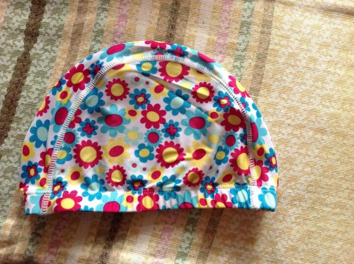 希途(Citoor) 泳帽男女款长发护耳莱卡布帽透气佩戴舒适 做为赠品颜色随机 太阳花 晒单图