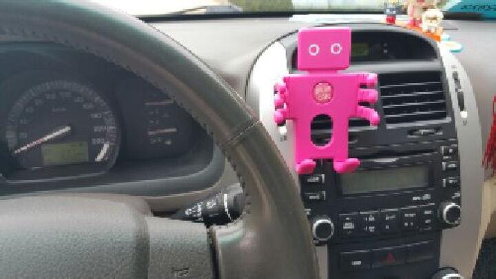轩之梦 车载手机支架汽车出风口GPS导航仪架手机架夹汽车用品 可爱熊-黑灰色 晒单图