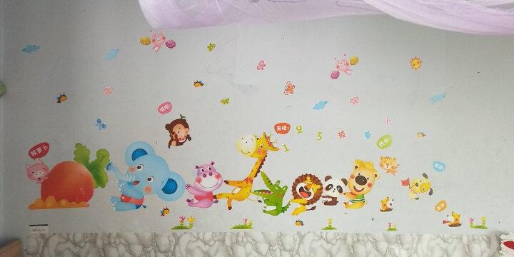 麦朵 卡通动物墙贴画贴纸儿童房卧室幼儿园教室墙面装饰品墙纸自粘 9.猴子秋千 大号 送蝴蝶贴纸 晒单图